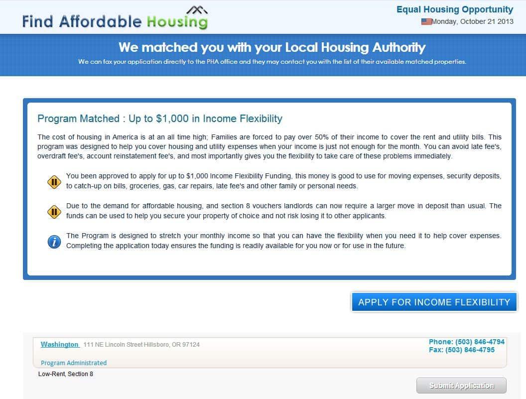 housing scam